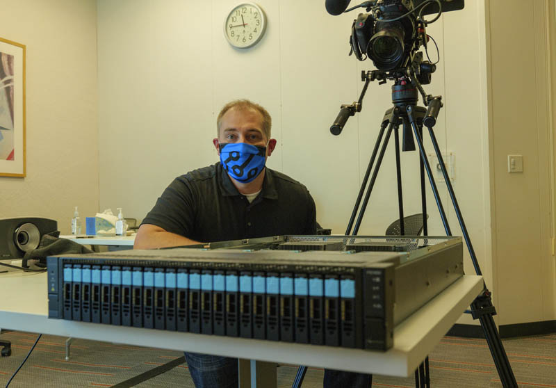 Patrick With Fungible FS1600 At HQ Before Launch