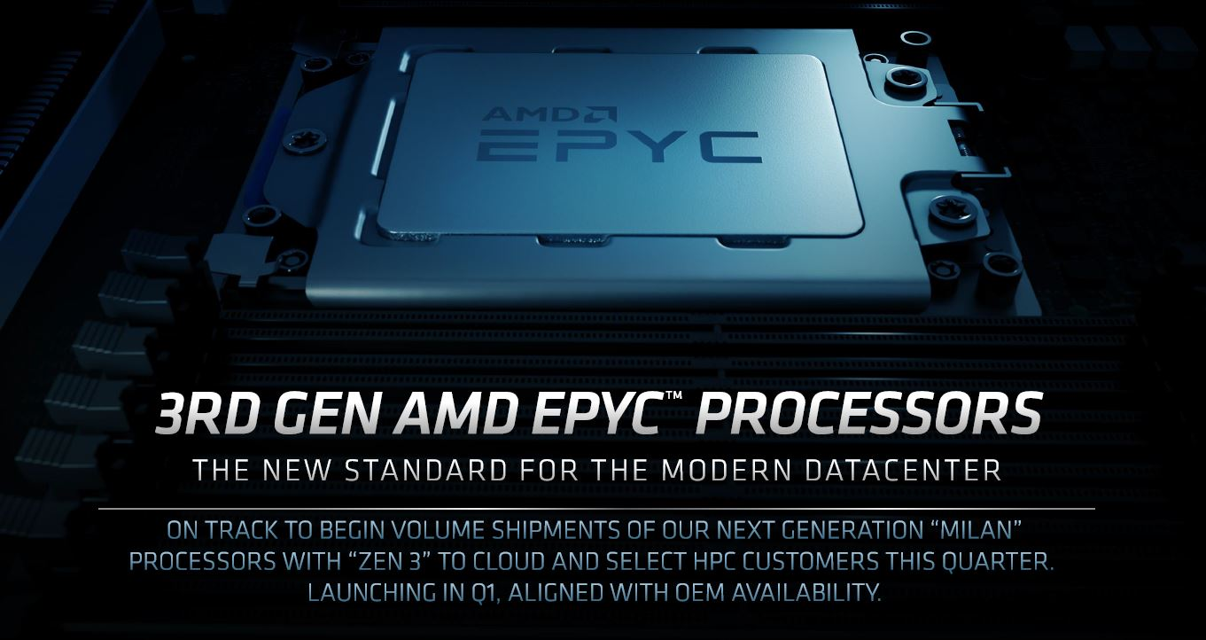 AMD EPYC 7003 Milan Shipping To Cloud And HPC In 2020 Launching In Q1