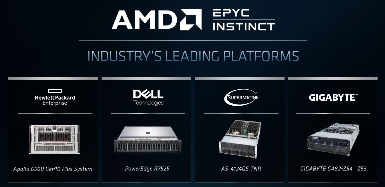 AMD EPYC With Radeon Instinct MI100 Partners