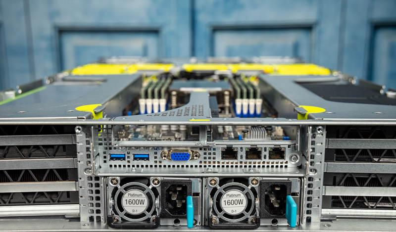 ASUS ESC4000A E10 Rear IO And Redundant PSUs