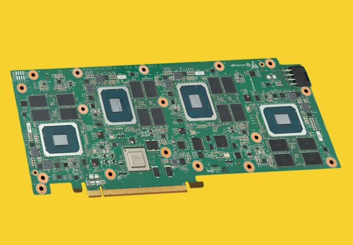 H3C XG310 PCIe Card Showing Four Intel Server GPUs And 32GB Of Memory