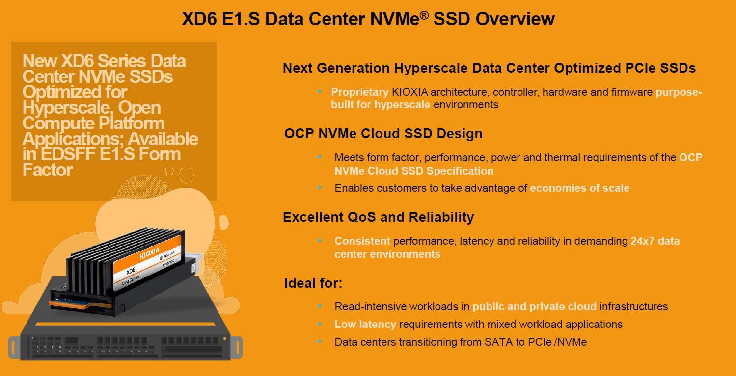 Kioxia XD6 E1.S Edition Overview