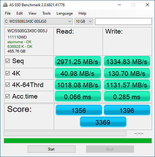 WD Black SN750 500GB ASSSD 10GB