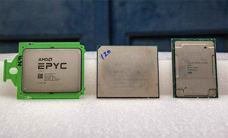 AMD EPYC Ampere Altra Intel Xeon Cascade Lake Small