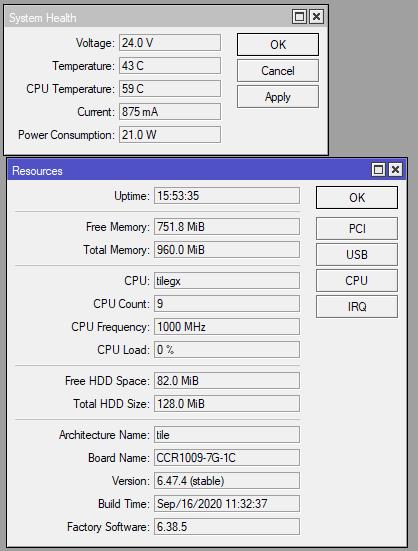 CCR1009 Power