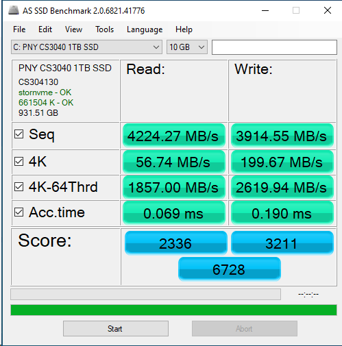 PNY CS3040 1TB ASSSD 10GB
