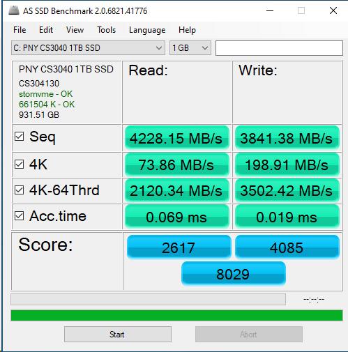 PNY CS3040 1TB ASSSD 1GB
