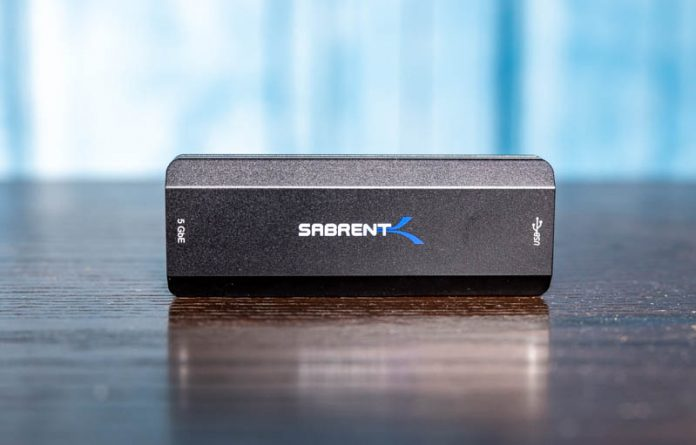 Sabrent NT SS5G USB 3 To 5GbE NIC Top Label