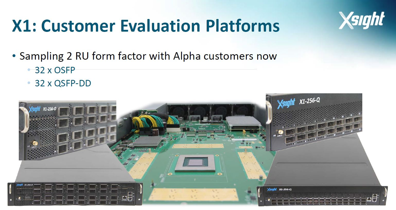 Xsight X1 2U Alpha Evaluation Platforms