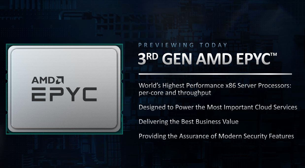 AMD EPYC 7003 Milan At CES 2021 1