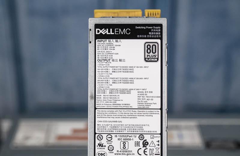 Dell EMC PowerEdge R7525 1.4kW PSU
