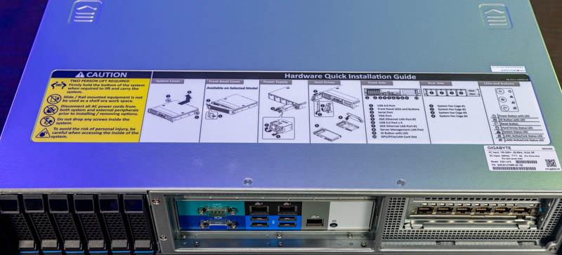 Gigabyte E251 U70 Top Label