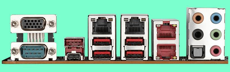 Gigabyte WRX80 SU8 IPMI Rear IO