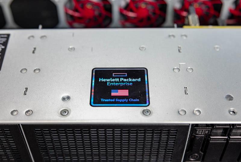 HPE ProLiant DL380T Gen10 Trusted Supply Chain Sticker