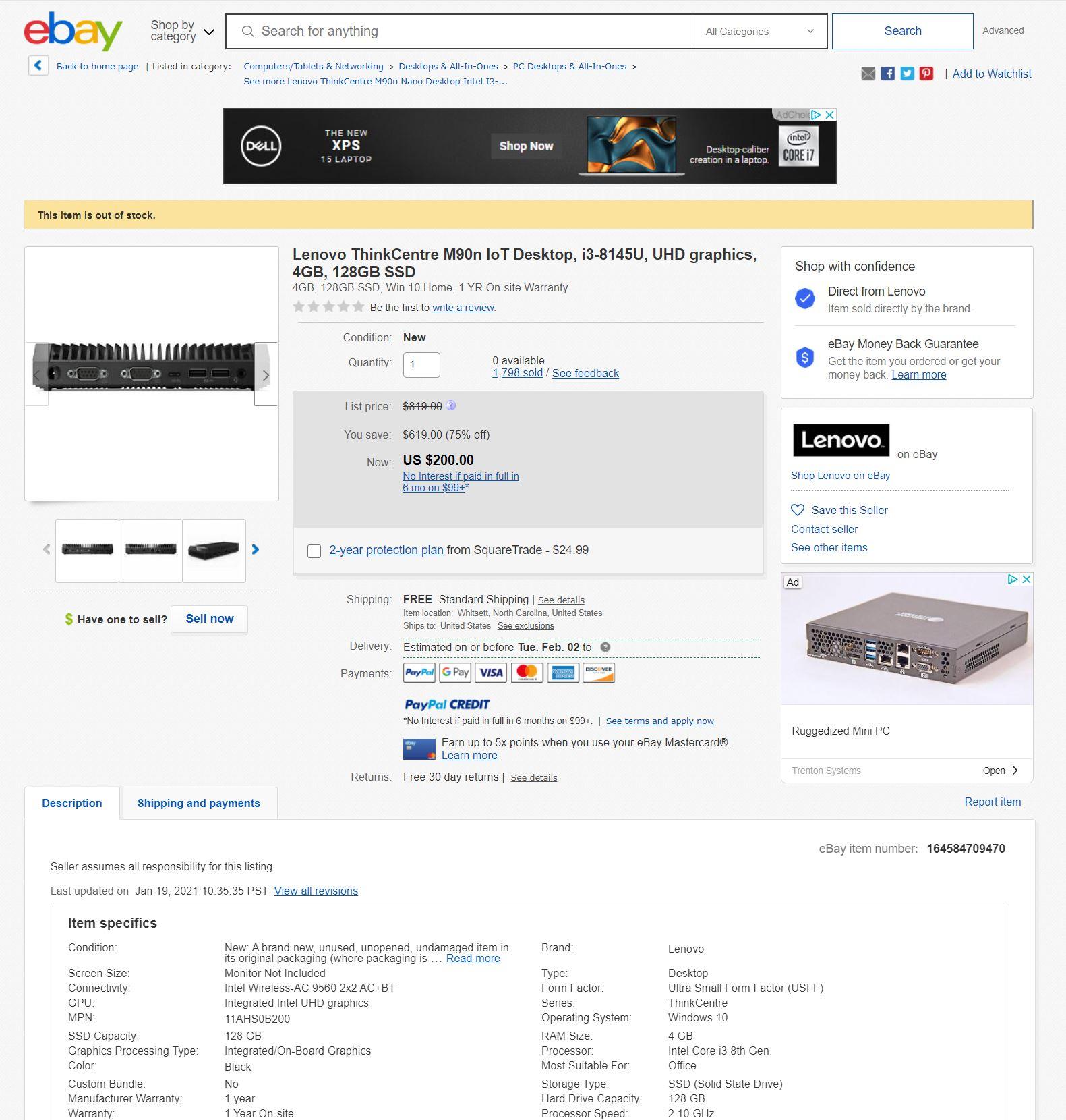 Lenovo M90n IoT Ebay