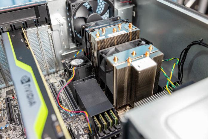 Lenovo ThinkStation P620 CPU Cooler And Memory Internal