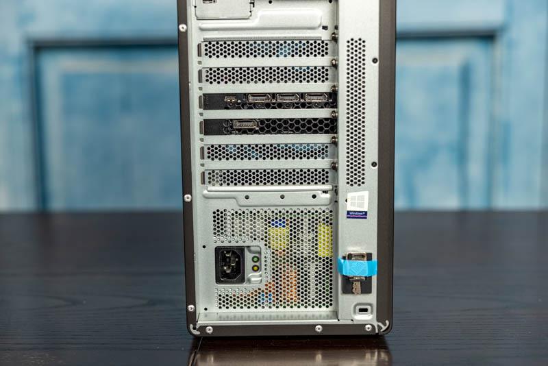 Lenovo ThinkStation P620 Rear PCIe And PSU