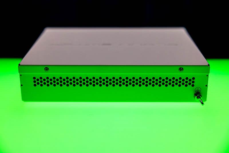 MikroTik CSS610 8G 2+IN Green Rear