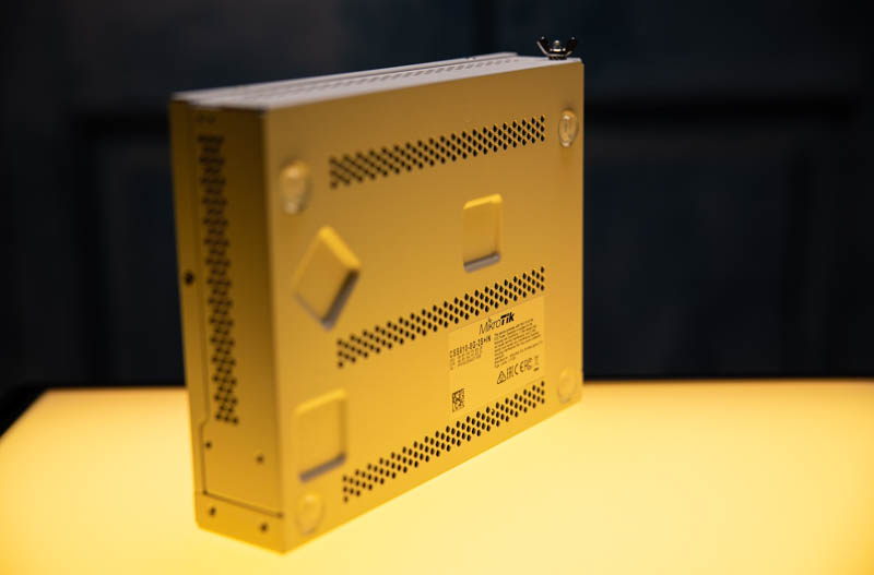 MikroTik CSS610 8G 2+IN Yellow Sides And Bottom