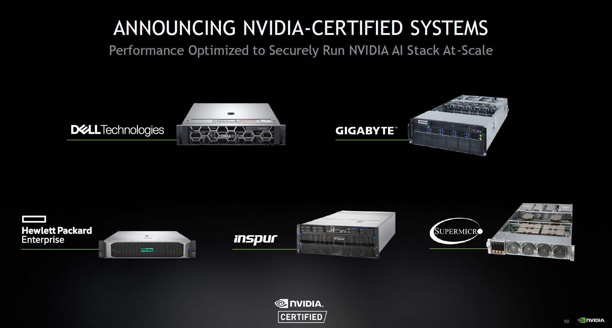 NVIDIA Certified Systems Partners