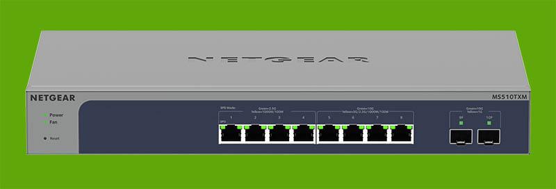 Netgear MS510TXM Front