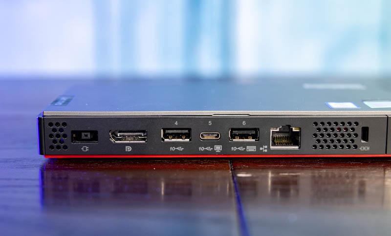 Lenovo M90n Nano Rear Ports
