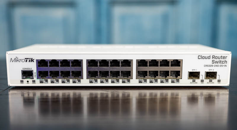 MikroTik CRS326 24G 2S+IN Front