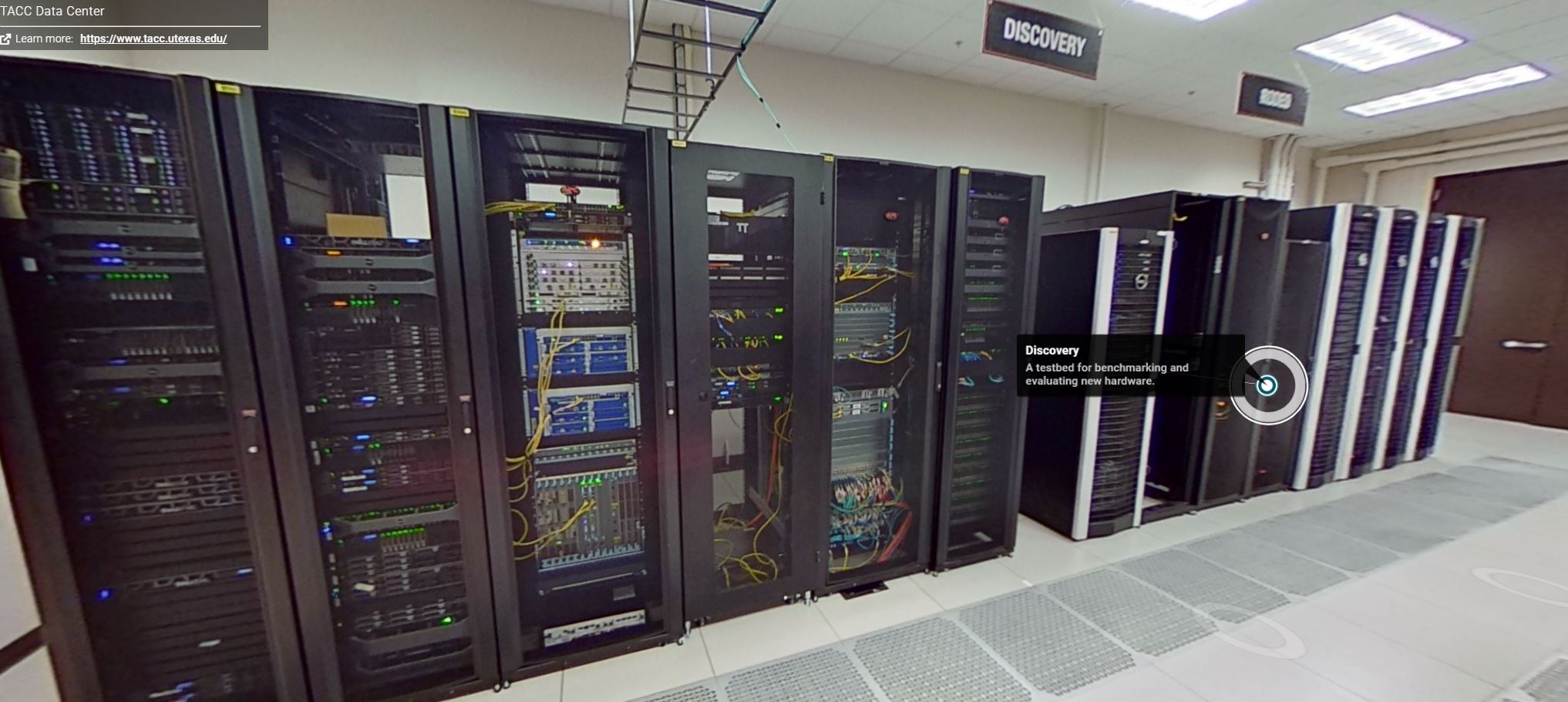 TACC Data Center Tour 2021 Matterport Discovery