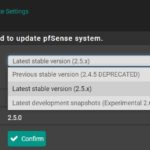 PfSense 2.5 Upgrade Out