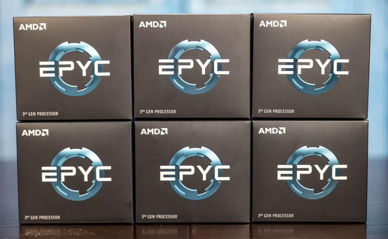 AMD EPYC 7003 Launch Reviewer Boxes