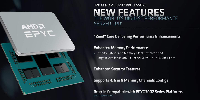 AMD EPYC 7003 SoC New Features