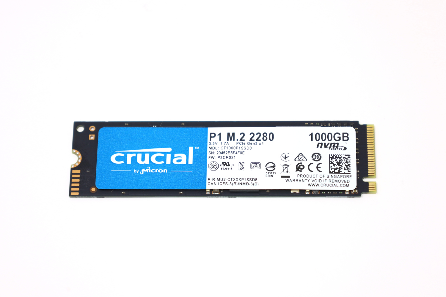Crucial P1 1TB Front