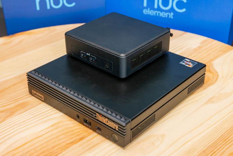 Intel NUC11TNKi5 Atop Lenovo M75q Tiny Gen2