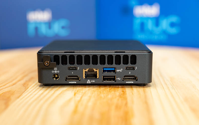Intel NUC11TNKi5 Rear