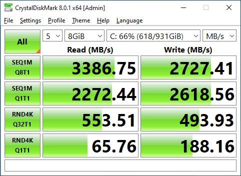 Samsung 980 1TB CrystalDiskMark 8GB