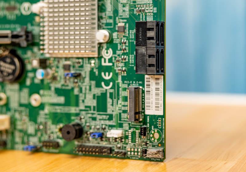 Supermicro X12SCA F SATA Edge Connectors