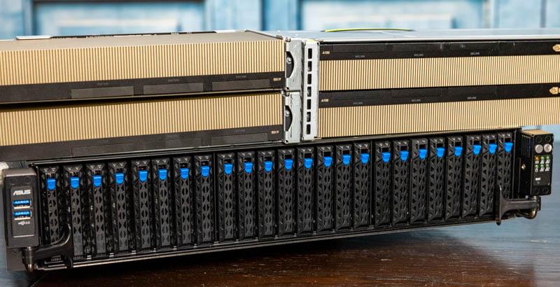 ASUS RS720A E11 RS24U 4x NVIDIA A100 Stack 4