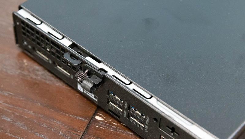 Dell OptiPlex 7080 Micro Rear Cable Retention