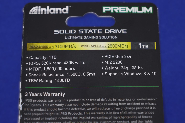 Inland Premium 1TB Specs