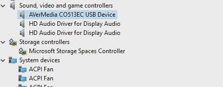Intel NUC 11 Compute Element AVerMedia CO513EC USB Device