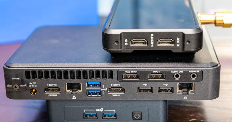 Intel NUC 11 Element With Atomos Ninja V 4K Recorder On Top