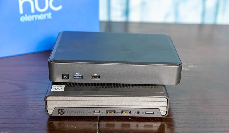 Intel NUC 11 Element With HP EliteDesk 800 G6 Mini