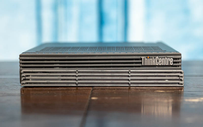 Lenovo ThinkCentre M90q Tiny Front With Dust Shield Off
