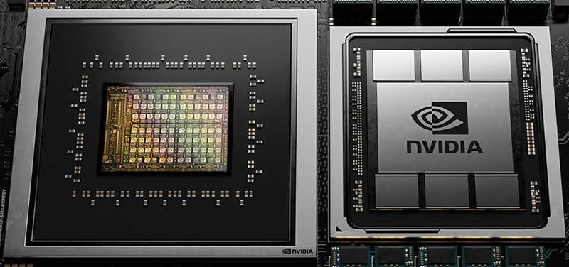 NVIDIA Grace GTC 2021 CPU And GPU Close Up