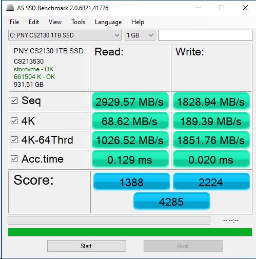 PNY CS2130 1TB ASSSD 1GB