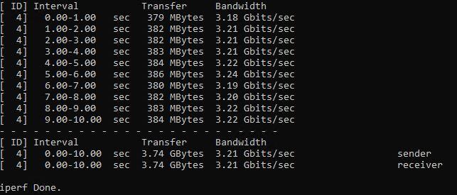 QNAP QNA UC 5G1T USB 5GbE Adapter Iperf3 3.21Gbps 9K Jumbo Frames