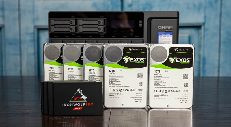 QNAP TVS H1288X Seagate Exos 12TB And IronWolf