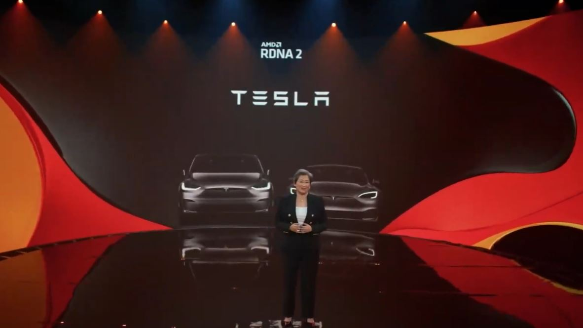 AMD Computex 2021 RDNA 2 Tesla Model S And Model X Infotainment And Running Games