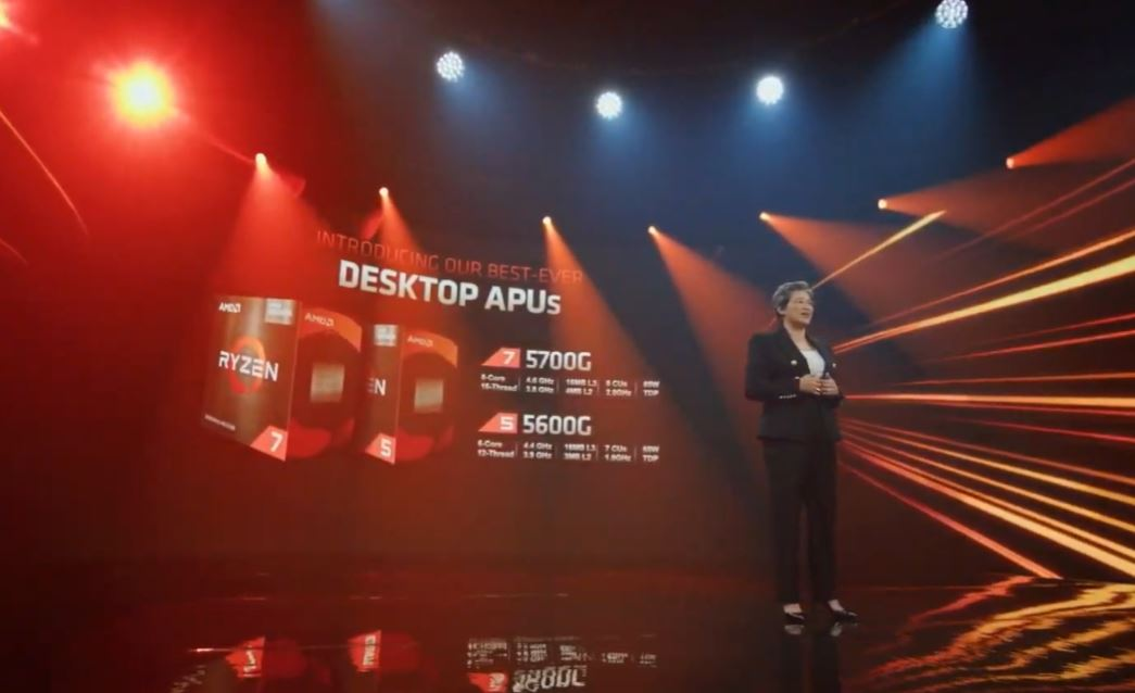AMD Computex 2021 Ryzen 5700G And 5600G 8C 8GC 6C 7GC