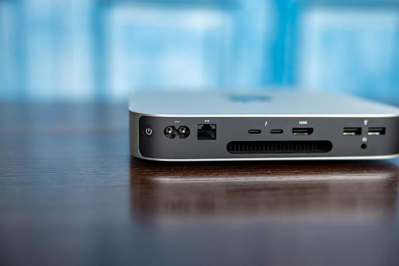 Apple Mac Mini M1 Rear NIC And Power Side